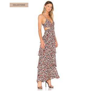 A.L.C Titus print floral maxi dress